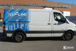 Vehicle Wrap Installed on a Sprinter Van in Mississauga