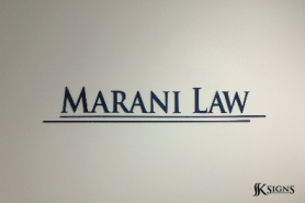 Law Office Lobby Sign in Toronto