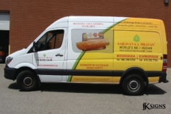 Vehicle Wrap Driver's Side for a Catering Van