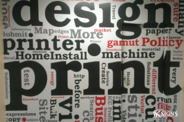 Words Digitally Printed as Wall covering in Mississauga