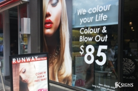 Runway Hair Studio Window Graphic