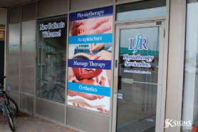 Window Graphic for a physiotheraphy company
