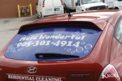 Vehicle Lettering & Perforated Vinyl installed in Brampton