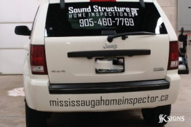 Home Inspection Company Rear Window & Bumper Vehicle Lettering