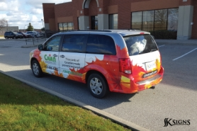 Vehicle Wrap Installed for an Advertising Company
