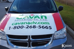 Van Hood Vehicle Graphic Installed