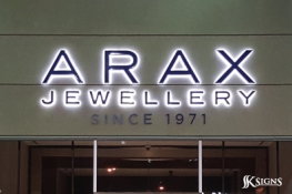 Halo Lit Channel Letters for a Jewellery Store