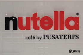 Pusateri's Nutella Sign Made from Custom Acrylic 3D Letters