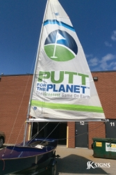Putt For The Planet Sail Custom Sign