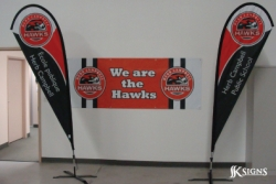 Custom Tear Drop Flags and a Custom Banner for Herb Campbell Public School, Caledon