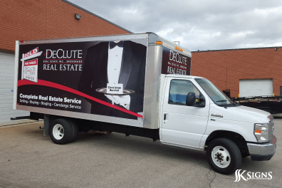Truck wrap for a company in Toronto