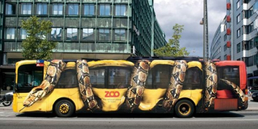Bus with snake graphic - Vehicle Wrap