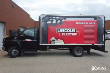 Vehicle Wrapped for LINCOLN ELECTRIC Truck