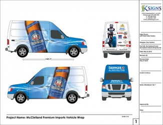 Vehicle Wrap Proof for McClelland in Mississauga