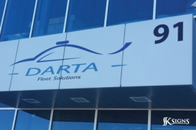 Contour Cut Exterior sign for Darta