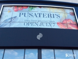 Pusateri's Perforated Film Window Graphics in Oakville