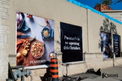 Pusateri's Outdoor Building Banner