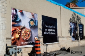 Pusateri's Outdoor Building Banner Sign