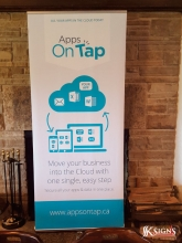 Banner Stand for Apps on Tap