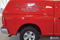 Darta's Fire Fleet Solution Vehicle Graphics in Bolton