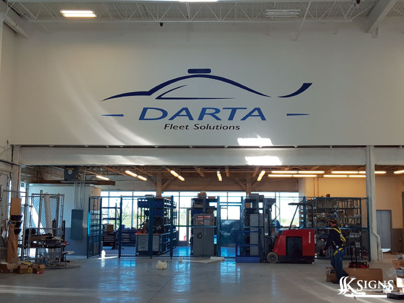 Darta Fleet Solutions Wall Graphics in Bolton