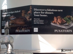 Pusateri's Graphic for Sherway Gardens Mall Hoarding in Toronto