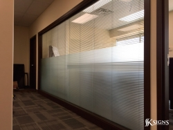 Etched Glass Film Installation for RGIS