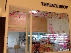 Window Graphics for Face Shop