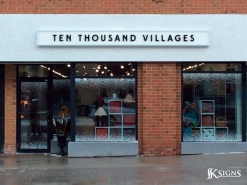 Fascia Sign for Ten Thousand Village
