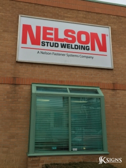 Fascia Sign at Nelson Stud Welding