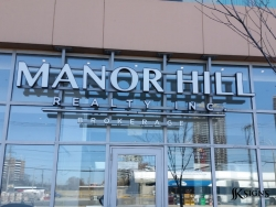 Channel Letters Installed for Manor Hill Realty in Toronto