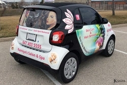 Vehicle Wrap for Ramiya Salon and Spa in Mississauga
