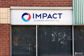 Fascia Sign Installed for Impact Cleaning in Toronto