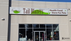 Custom Exterior Building Signage for Tail Blazers in Mississauga