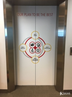 Elevator Wrap for DHL in Mississauga