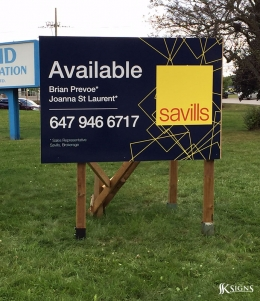 Commercial Real Estate Sign for Savills in Toronto