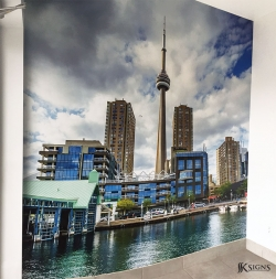 Wall Mural Installed for Tomken Dental in Mississauga