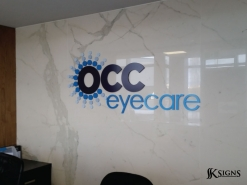 Lobby Sign for OCC Eyecare