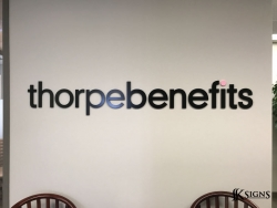 3D Acrylic Letters Lobby Sign at Thorpe Benefits in Toronto