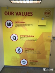 Custom Wall Graphics for DHL in Toronto