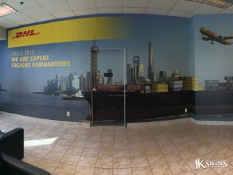 Digitally Printed Wall Graphics for DHL