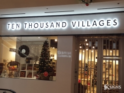Ten Thousand Villages Halo Lit Letters