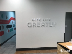 Lobby Sign Live Life Greatly