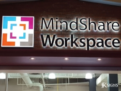 Channel Letter Install for Mindshare