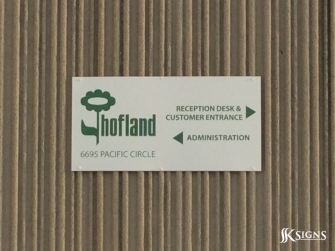 Outdoor Sign for Hofland