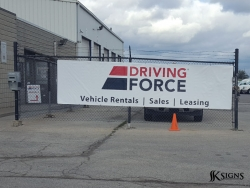 Banner Installed for Driving Force