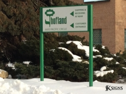 Aluminum Directional Sign for Hofland