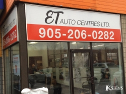 Fascia Sign for ET Auto Centres