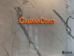 Lit acrylic lobby sign at CabanaCoast in Mississauga