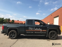 Vehicle graphics for PM Contracting in Caledon
